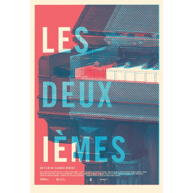 """Contemporary 2016 Contemporary Film Poster - """"Les Deuxiemes"""" (Red and Blue) For Sale - Image 3 of 3"""