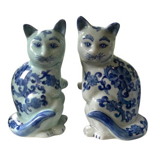 Vintage Chinese Porcelain Cats For Sale