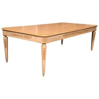 Grosfeld House Monumental Blonde Wood Dining Table