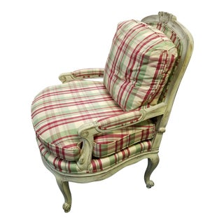1970s Vintage Bergere Chair For Sale