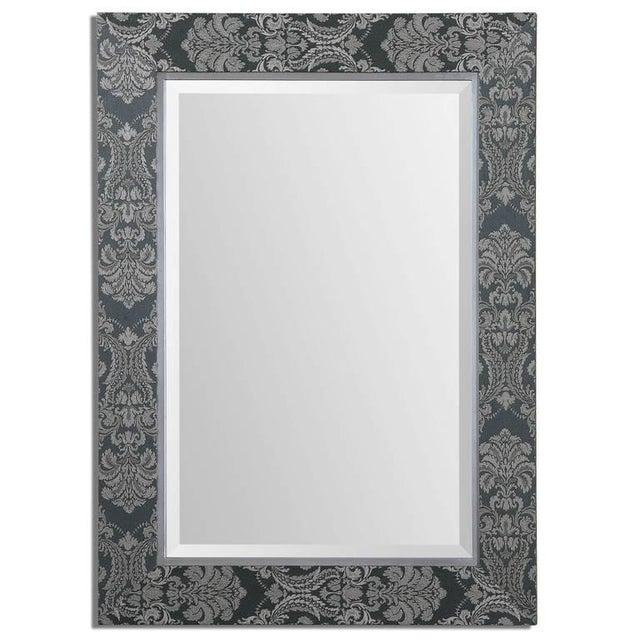 Sage Linen Framed Mirror - Image 1 of 2