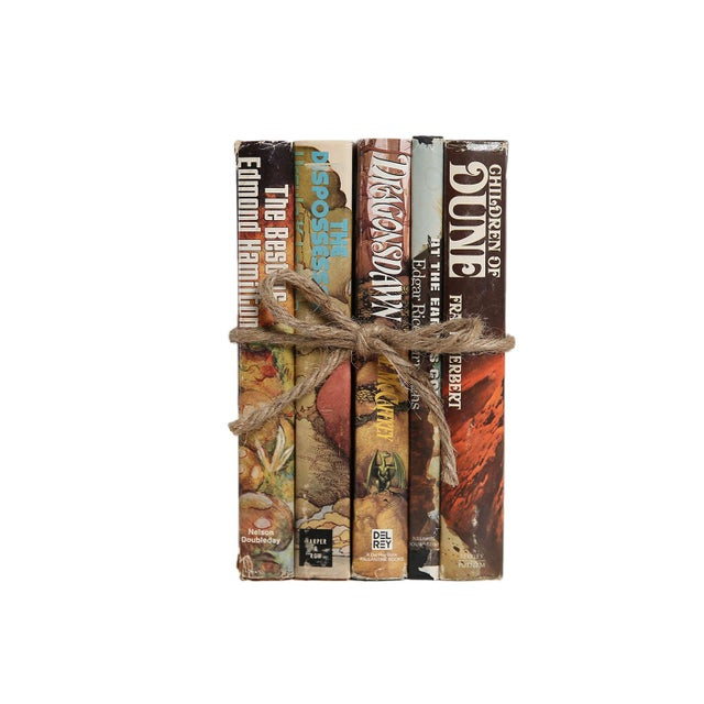 Vintage Stories From Other Worlds: Sci-Fi Gift Set, S/5. Features a blend of five authentic Retro books published...