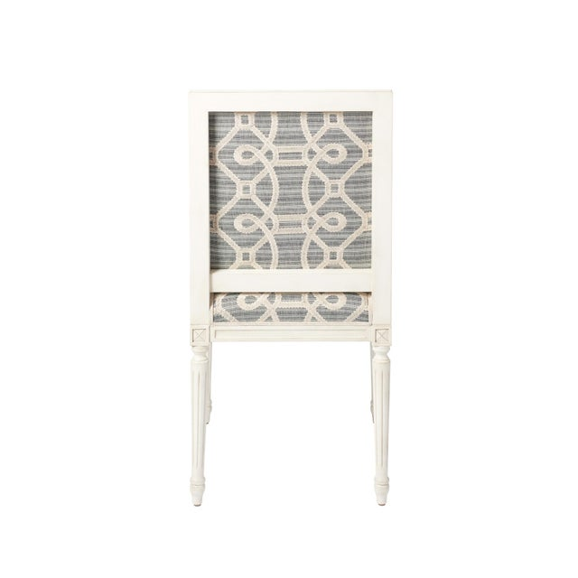 Gray Schumacher Marie Therese Ziz Embroidery Strié Hand-Carved Beechwood Side Chair For Sale - Image 8 of 11
