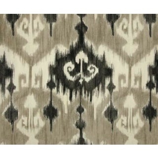 Richloom Marlena Ikat Graphite Fabric For Sale