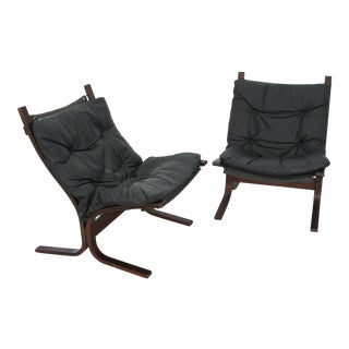 Mid Century Modern Westnofa Leather Siesta Chairs by Ingmar Relling - a Pair For Sale