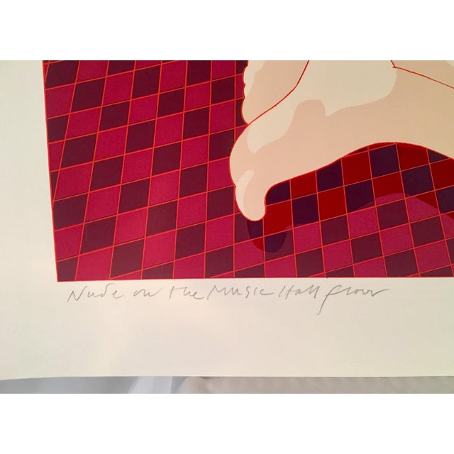 "Drawing/Sketching Materials Rare 1979 Hand Signed Milton Glaser Serigraph, ""Nude on the Music Hall Floor"" For Sale - Image 7 of 12"