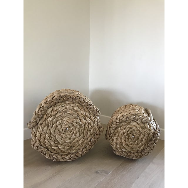 2010s Raquel Round Baskets - A Pair For Sale - Image 5 of 8