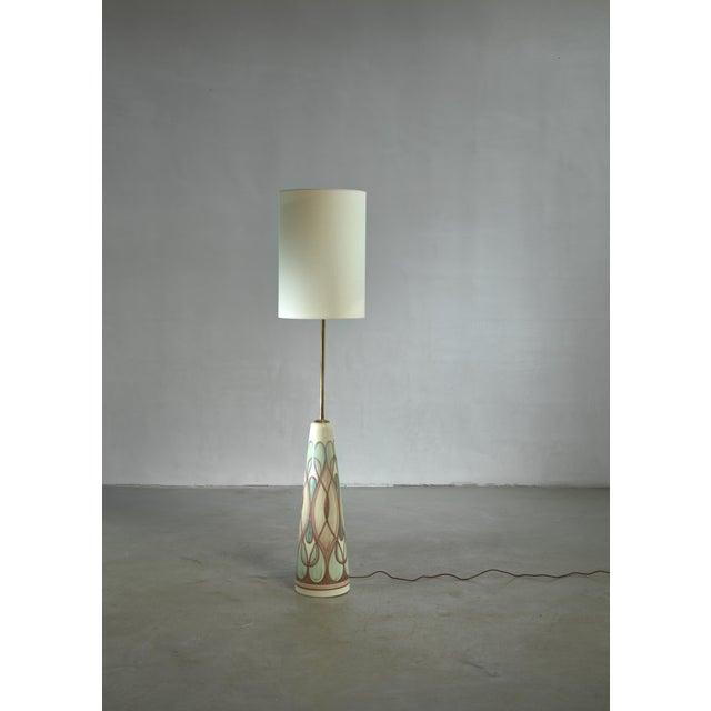 Mid-Century Modern Rigmor Nielsen Floor Lamp, Denmark For Sale - Image 3 of 3