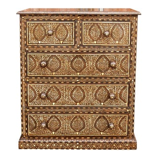 Anglo-Indian Bone Inlay Chest of Drawers For Sale
