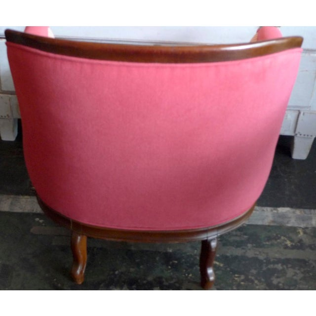 Farmhouse 19th Century French Walnut Bergere Armchair Reupholstered With New Fabric. For Sale - Image 3 of 11