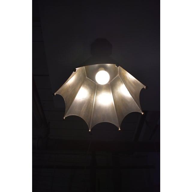 Art Deco Crown Motif Pendant Light by Douglas Werner for Oblik Studio For Sale - Image 3 of 5