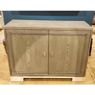 Lillian August for Hickory White Contemporary Gray and White Karl Door Cabinet Preview
