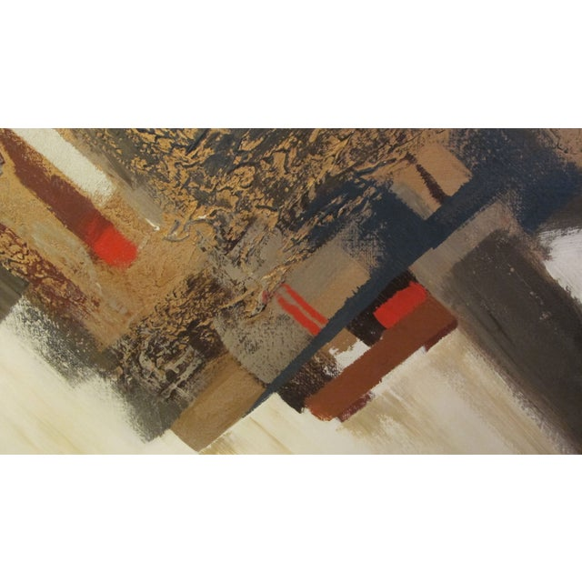 1970s Listed Artist Lee Reynolds Abstract Painting For Sale - Image 4 of 6
