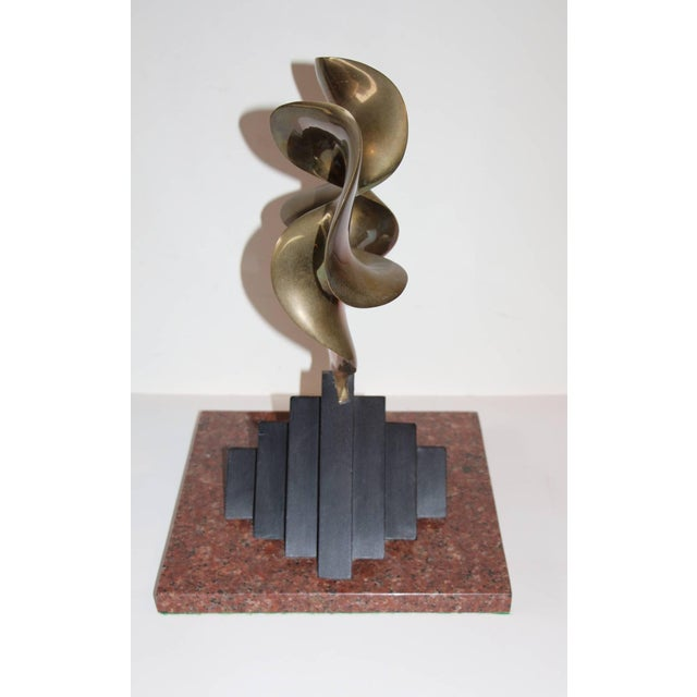 By the noted New Jersey artist Fred Schumm is this great bronze wood and marble sculpture. It is signed on the bronze and...