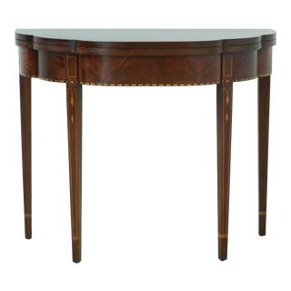 Henkel Harris Federal Inlaid Mahogany Myers Game Table For Sale