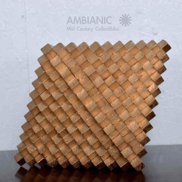 Wood Pedro Friedeberg Wood & Gilt Sculpture For Sale - Image 7 of 7