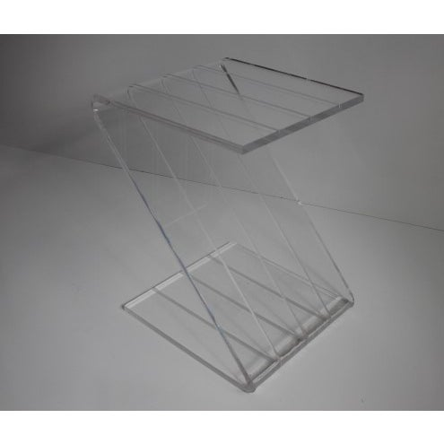 Vintage Lucite Z-Shaped Side Table For Sale - Image 4 of 7