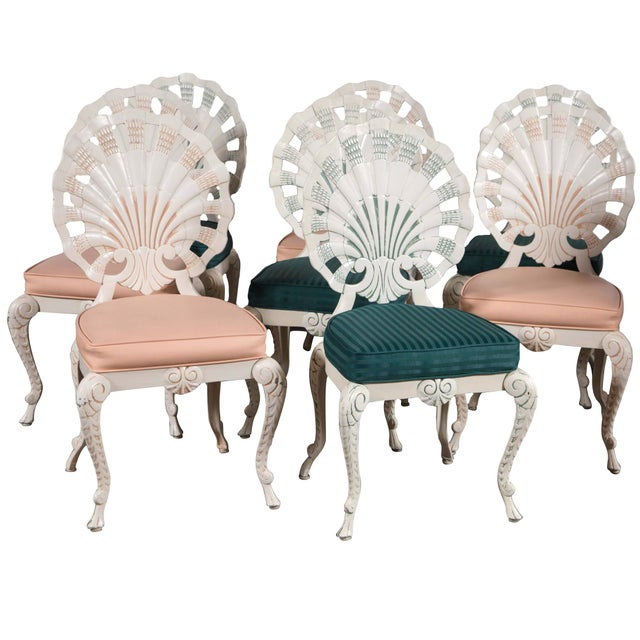 Set of Eight Shell Back Dining Chairs For Sale - Image 10 of 10