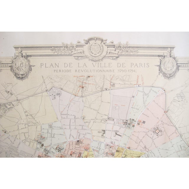 Late 19th Century 1887 Original French Map of Paris, Retrospective For Sale - Image 5 of 6