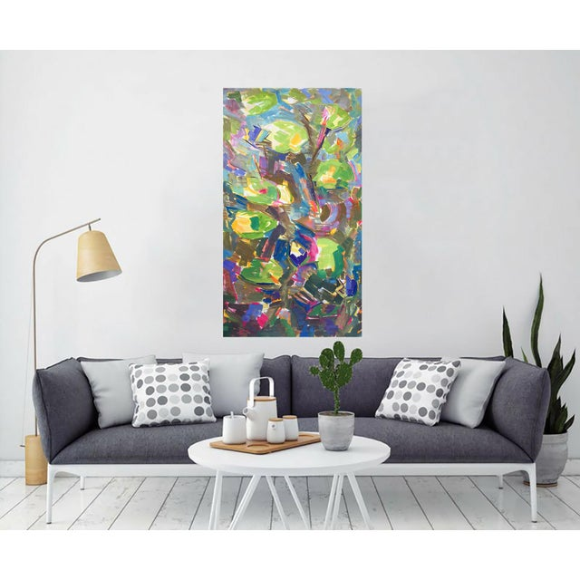 """Waterlilies"" Large Abstract Painting by Trixie Pitts - Image 5 of 6"