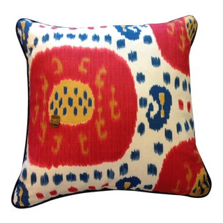 Custom Colorful Ikat Pillow