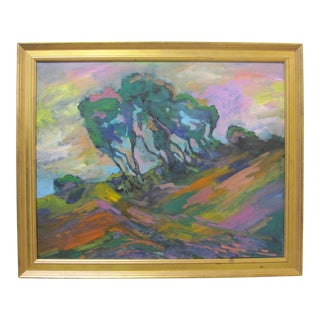 Juan Guzman Fauvist Expressionist Inspired Landscape Painting For Sale