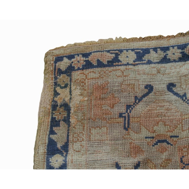 Semi-Antique Turkish Oushak Rug - 10′ × 13′3″ For Sale - Image 6 of 13