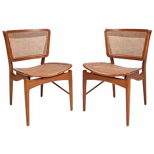 Selling a set of Finn Juhl walnut & cane chairs in outstanding condition. Purchased from Lawson-Fenning in Los Angeles in...
