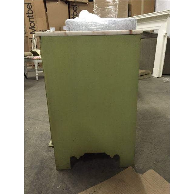Vintage Green & White Cabinet - Image 4 of 9