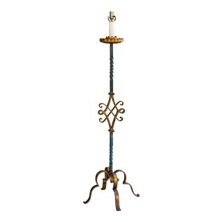 Fine Wrought Iron Floor Lamp For Sale