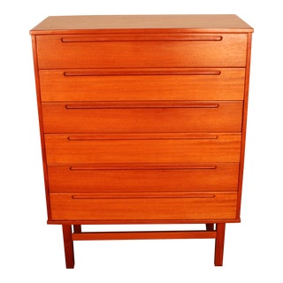 Nils Jonsson for Hjn Mobler Danish Teak High-Boy Dresser