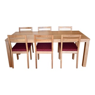 De La Espada Minimal Walnut Dining Set For Sale