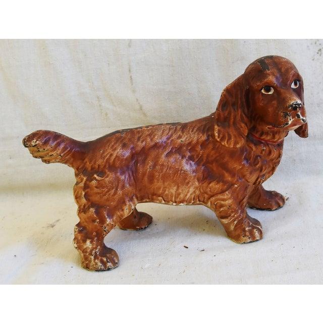 Charming Vintage Cast Iron Dog Figure Doorstop For Sale - Image 12 of 12
