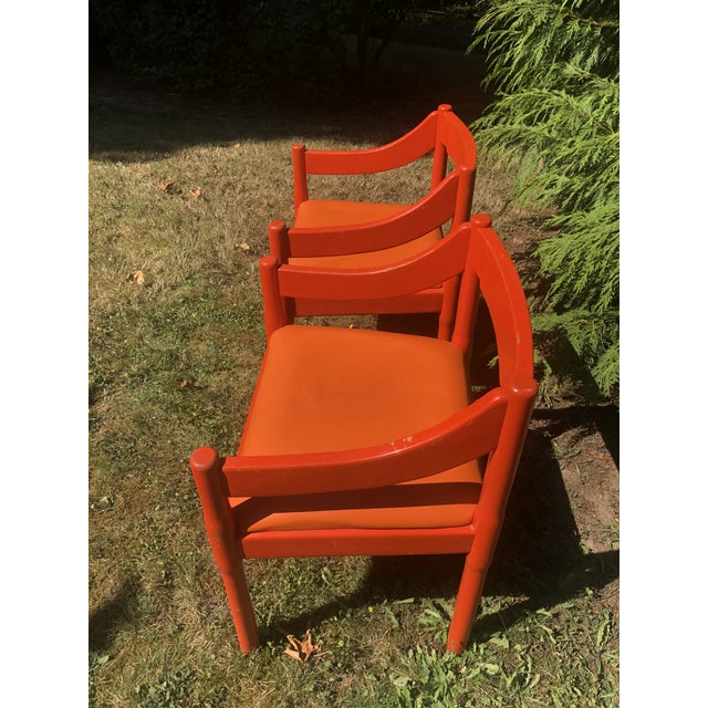 "1960s 1960s Vintage Vico Magistretti ""Carimate"" Chairs for Cassina- A Pair For Sale - Image 5 of 11"