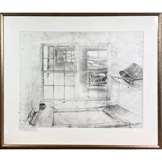 """1976 """"Spring Fed"""" Sketch Signed Collotype #110/300 by Andrew Wyeth, Framed For Sale"""