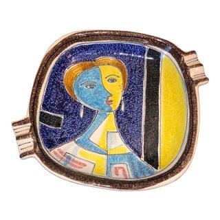 Alvino Bagni for Raymor Cubist Art Pottery Ashtray Italy For Sale