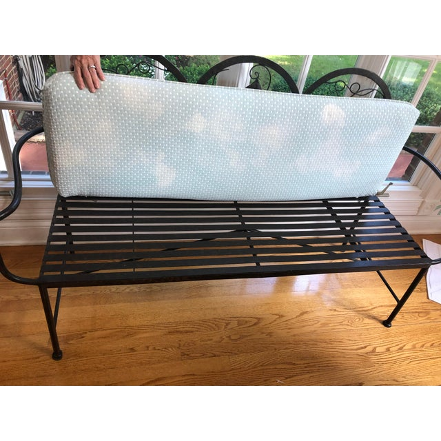 1990s Maitland-Smith Style Heavy Iron Bench For Sale In Louisville - Image 6 of 9