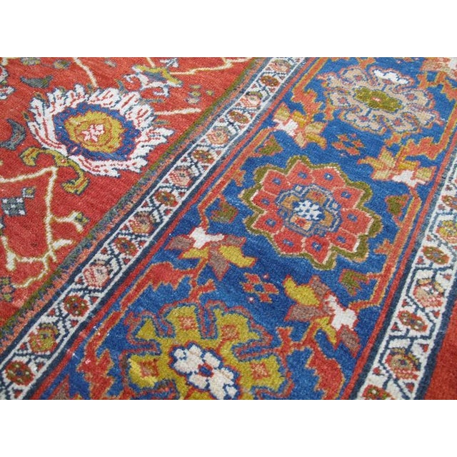 Fantastic Antique Sultanabad Carpet For Sale - Image 9 of 10