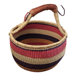 African Handmade Basket For Sale