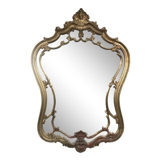 Vintage Gilt Frame Wall Mirror For Sale