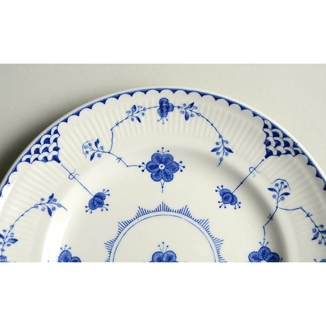English Johnson Brothers Denmark Blue Salad Plate - Set of 4 For Sale - Image 3 of 6
