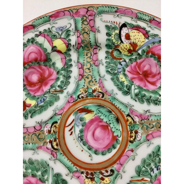 1940s Asian Hand Painted Decorative Plate For Sale - Image 4 of 10