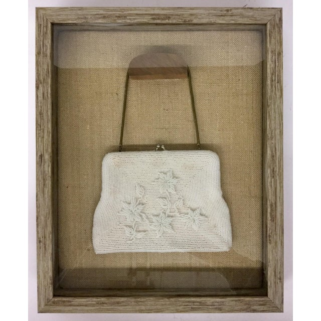 Framed Antique Beaded Purse Shadow Box Art For Sale - Image 13 of 13