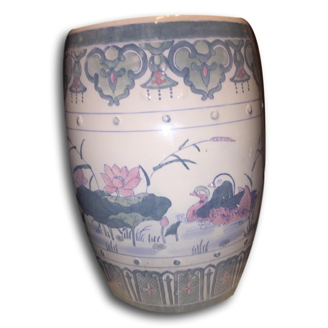 Vintage Chinoiserie Chinese Garden Seat - Image 3 of 5