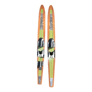 Vintage Mid Century Nash Tournament Water Skis - a Pair For Sale