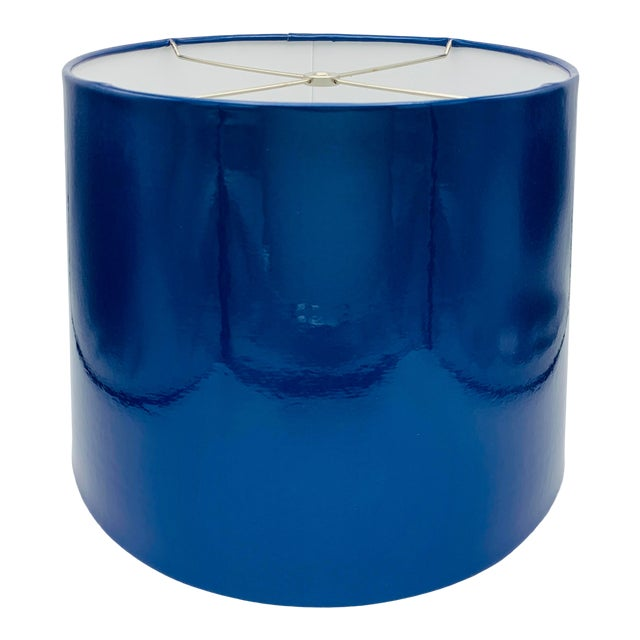 Custom Metallic Blue Vinyl Lampshade For Sale
