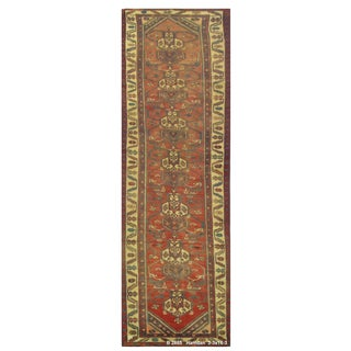 "Vintage Persian Hamedan Runner Rug - 3'3"" x 16'3"" For Sale"