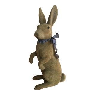 Vintage Flocked Standing Rabbit For Sale