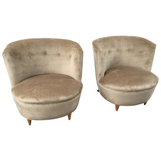 Barrel Chairs in the Style of Billy Haines For Sale