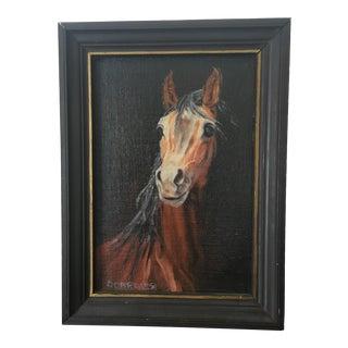 Vintage Horse Oil Painting